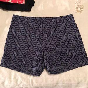 BR Ryan Fit Blue Eyelet Shorts NWT Size 6 Petite